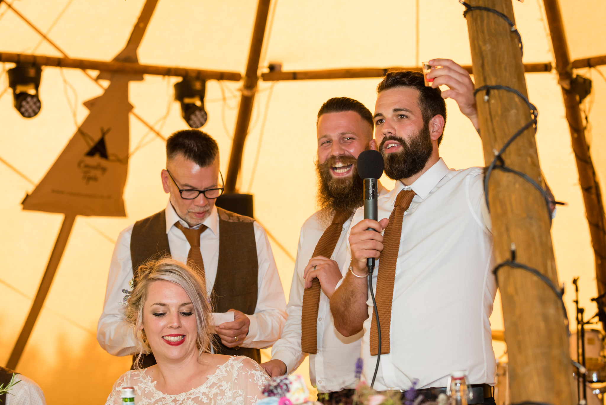 The Brides Brothers give a joint speech