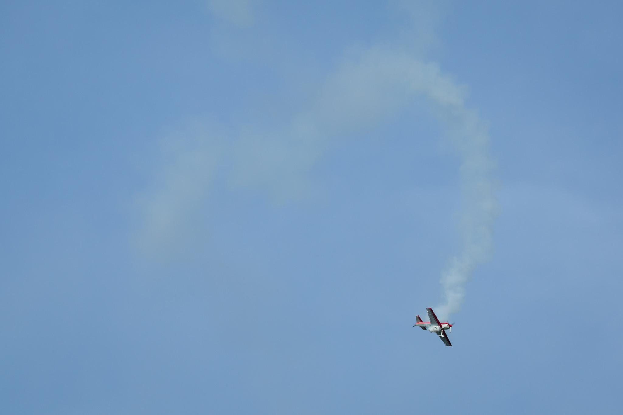 A stunt plane
