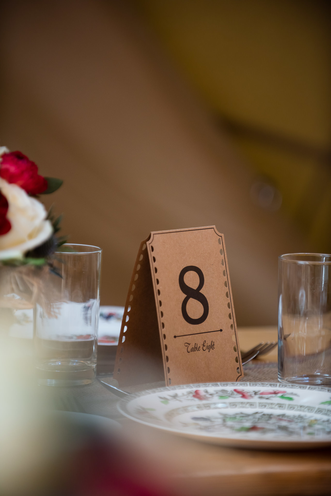 Table numbers for a tipi wedding