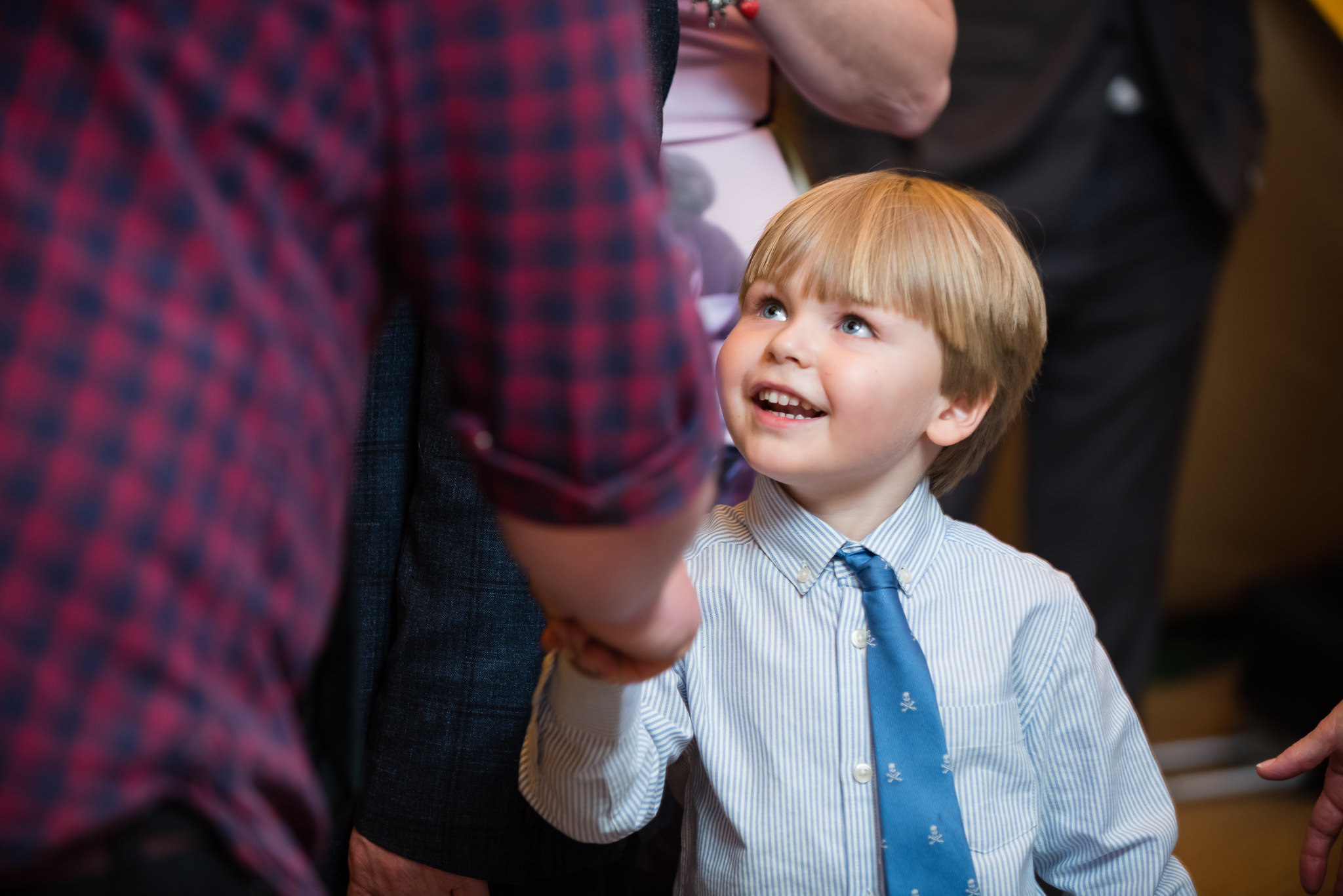 A boy at the wedding
