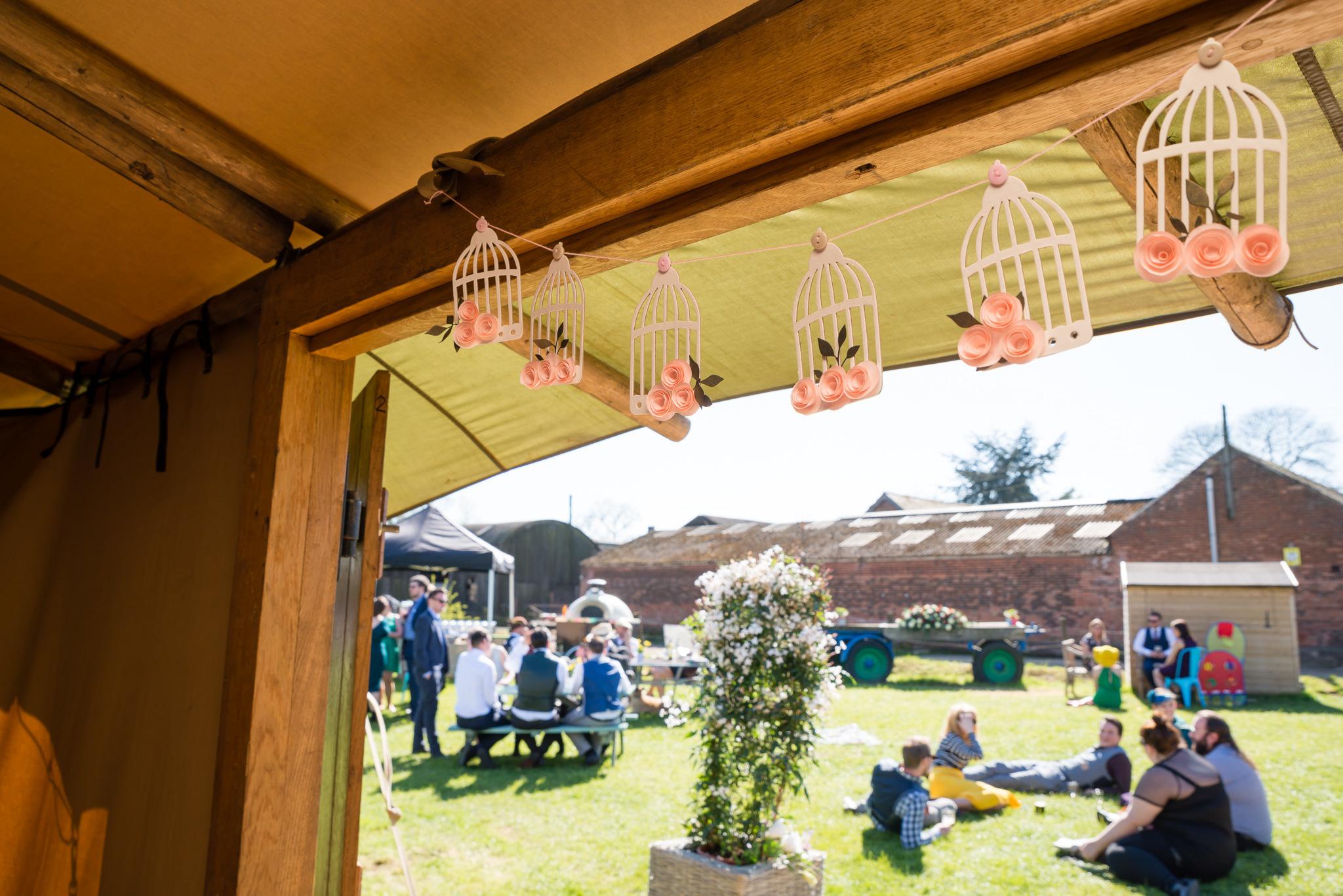 Tipi wedding at woodoaks farm in Rickmansworth