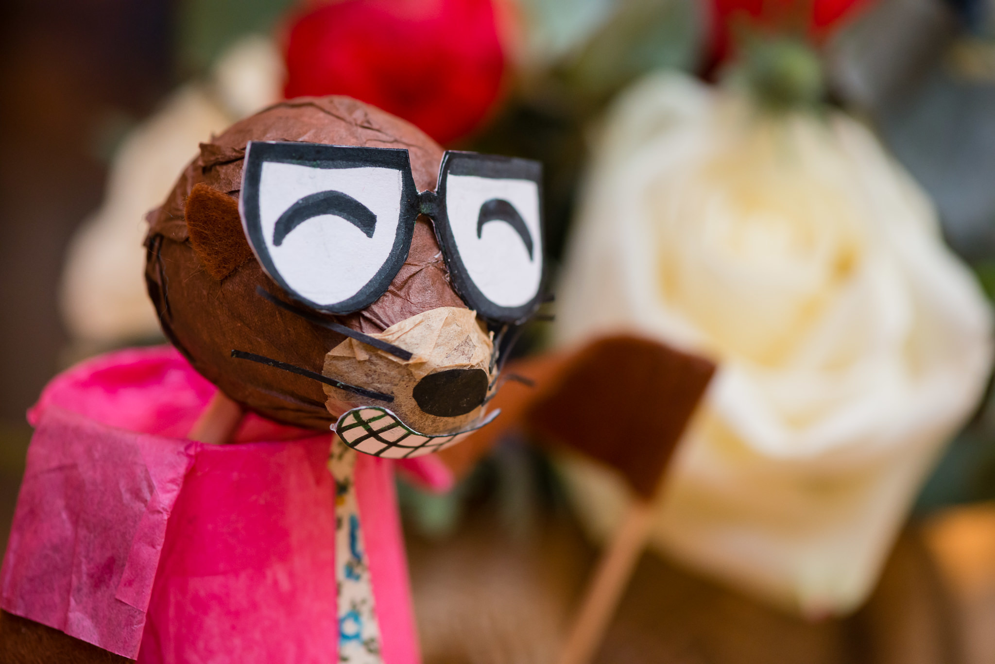 A puppet at tipi wedding