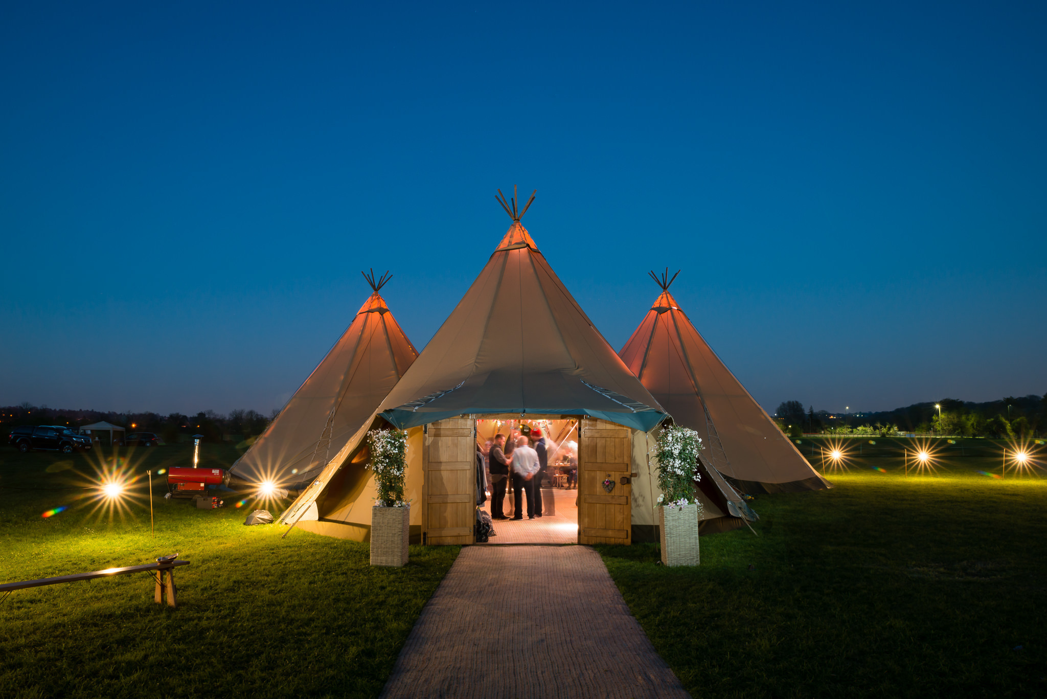 Tipi wedding in Hertfordshire