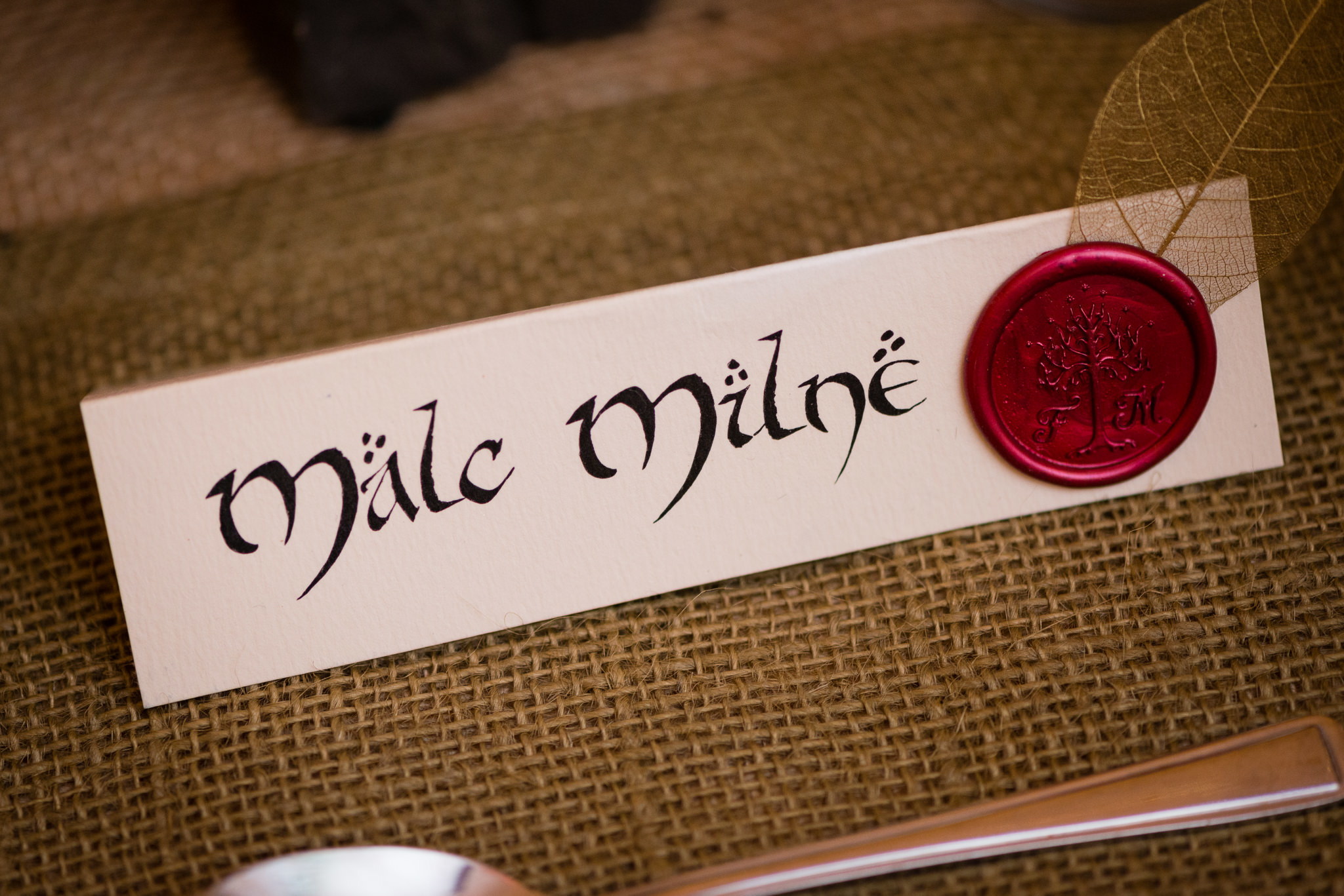 A name place setting