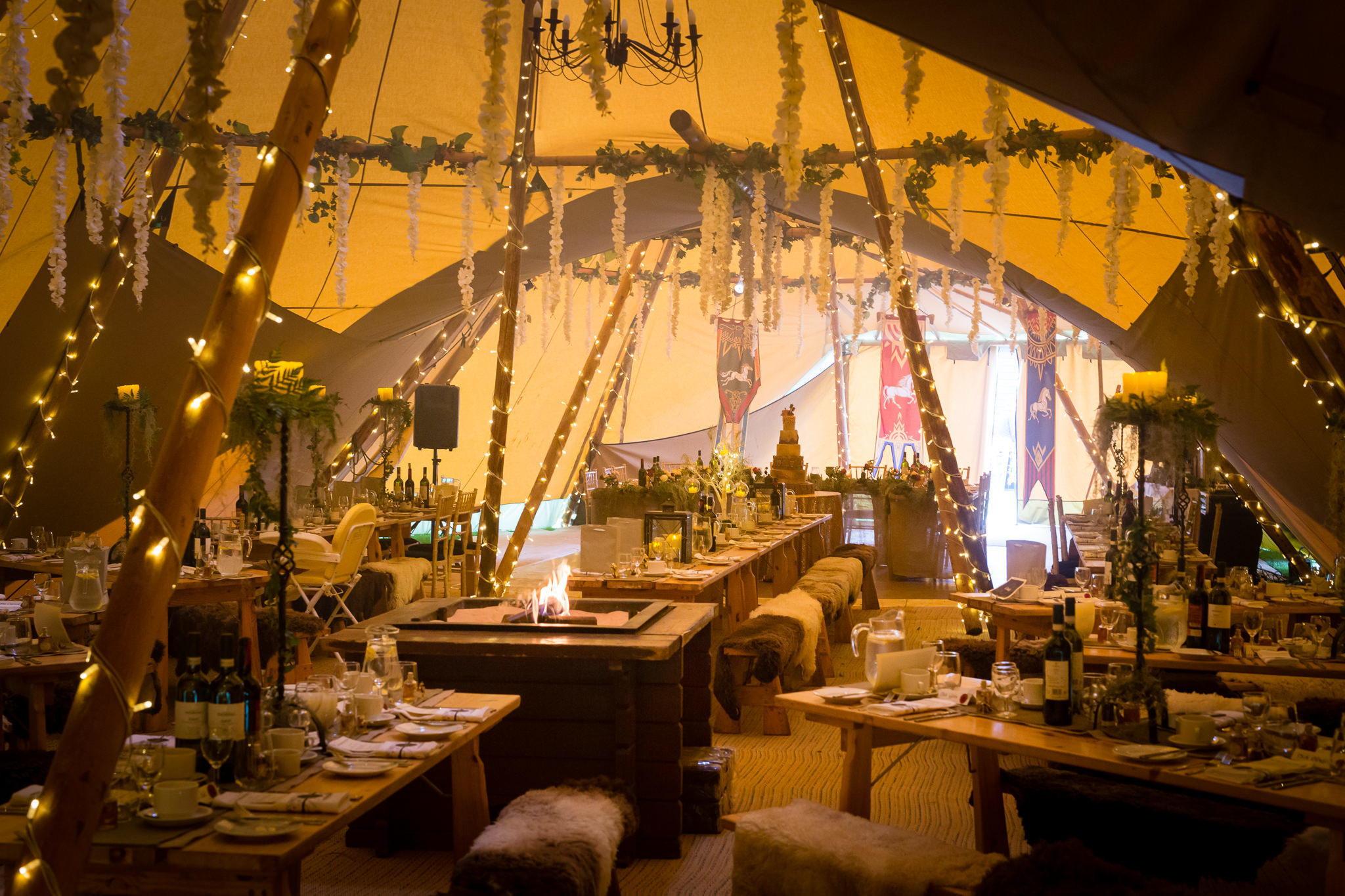 ATP decorated for a Lord of the Rings and Game of Thrones themed wedding