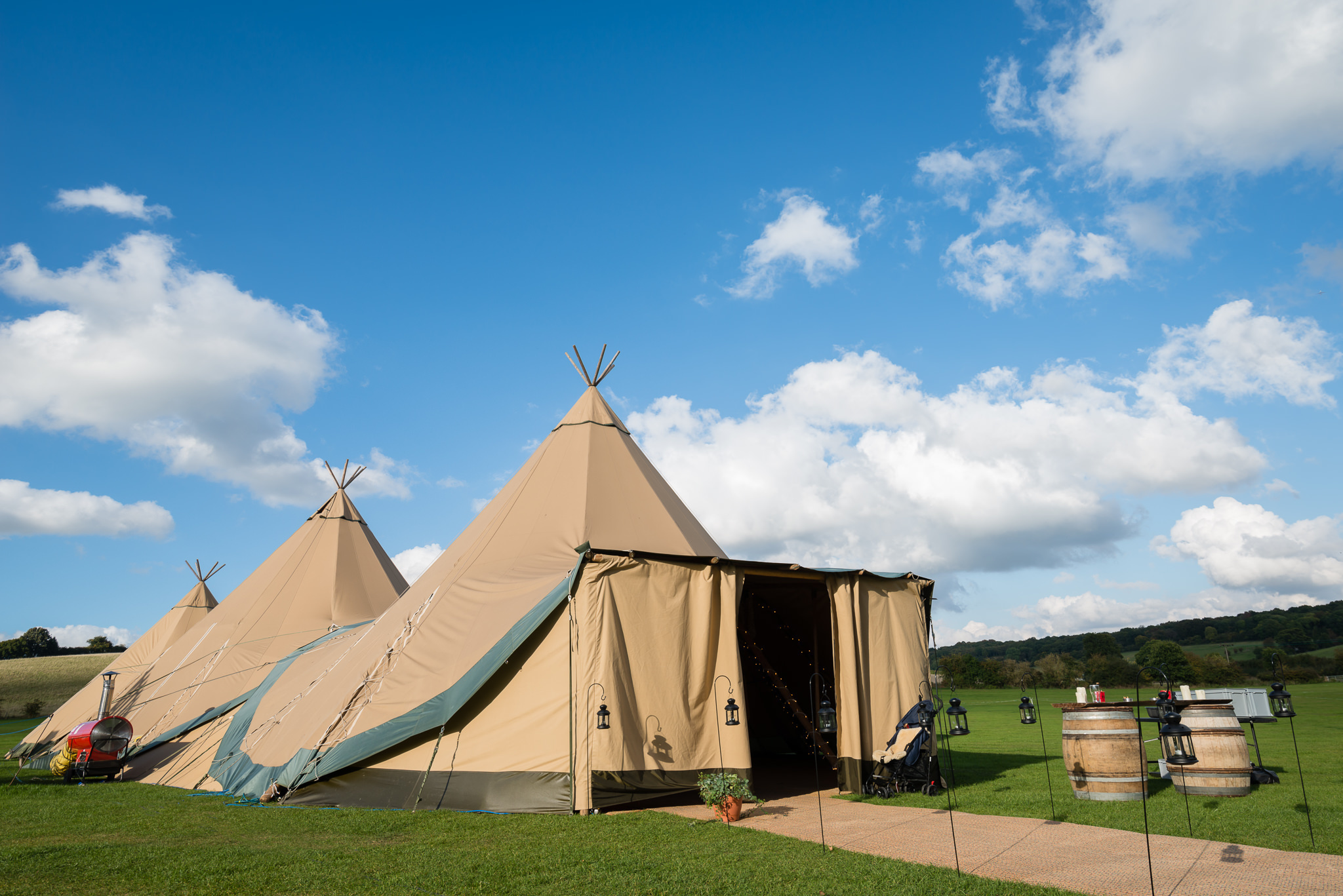 Tipi wedding in Berkhamsted