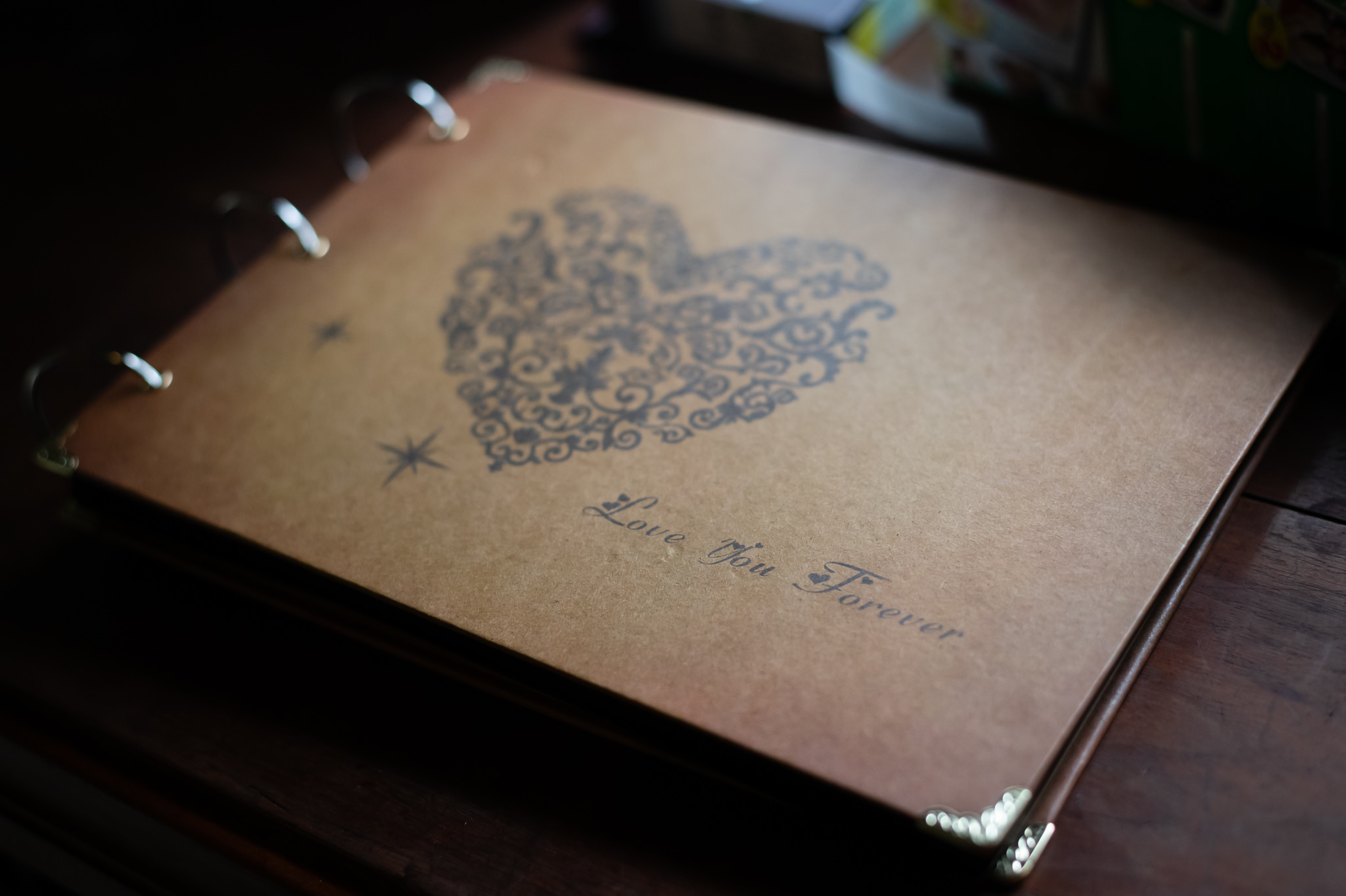 The bride and groom's Guest Book