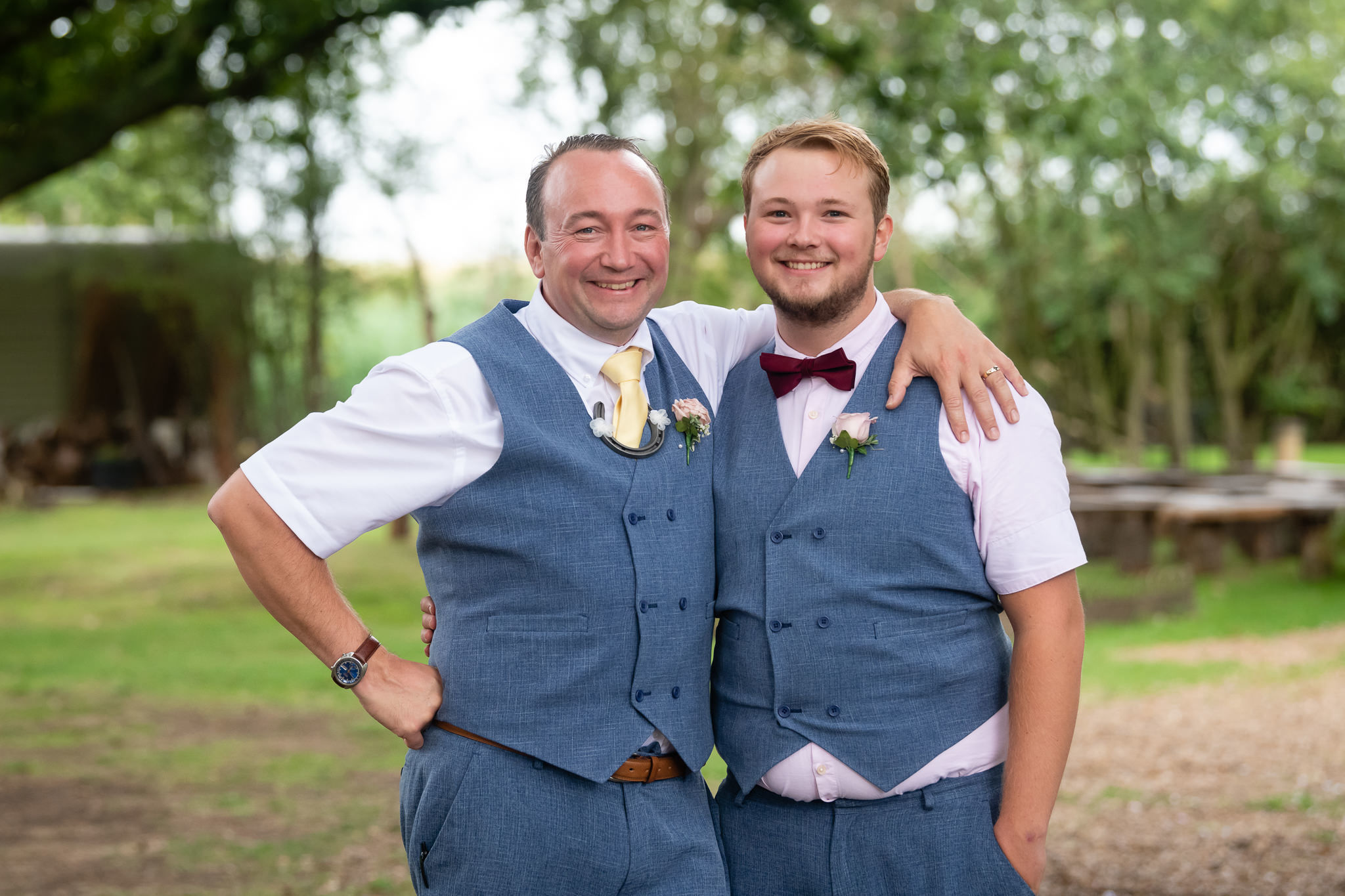 The groom and his son