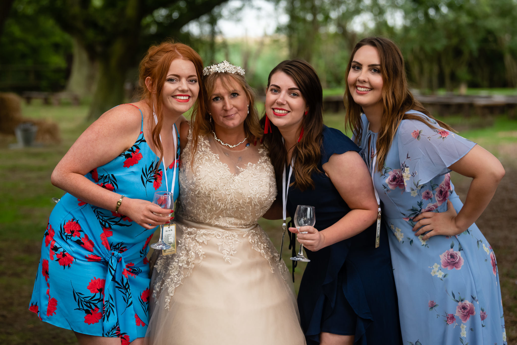 The bride and her girlfriends