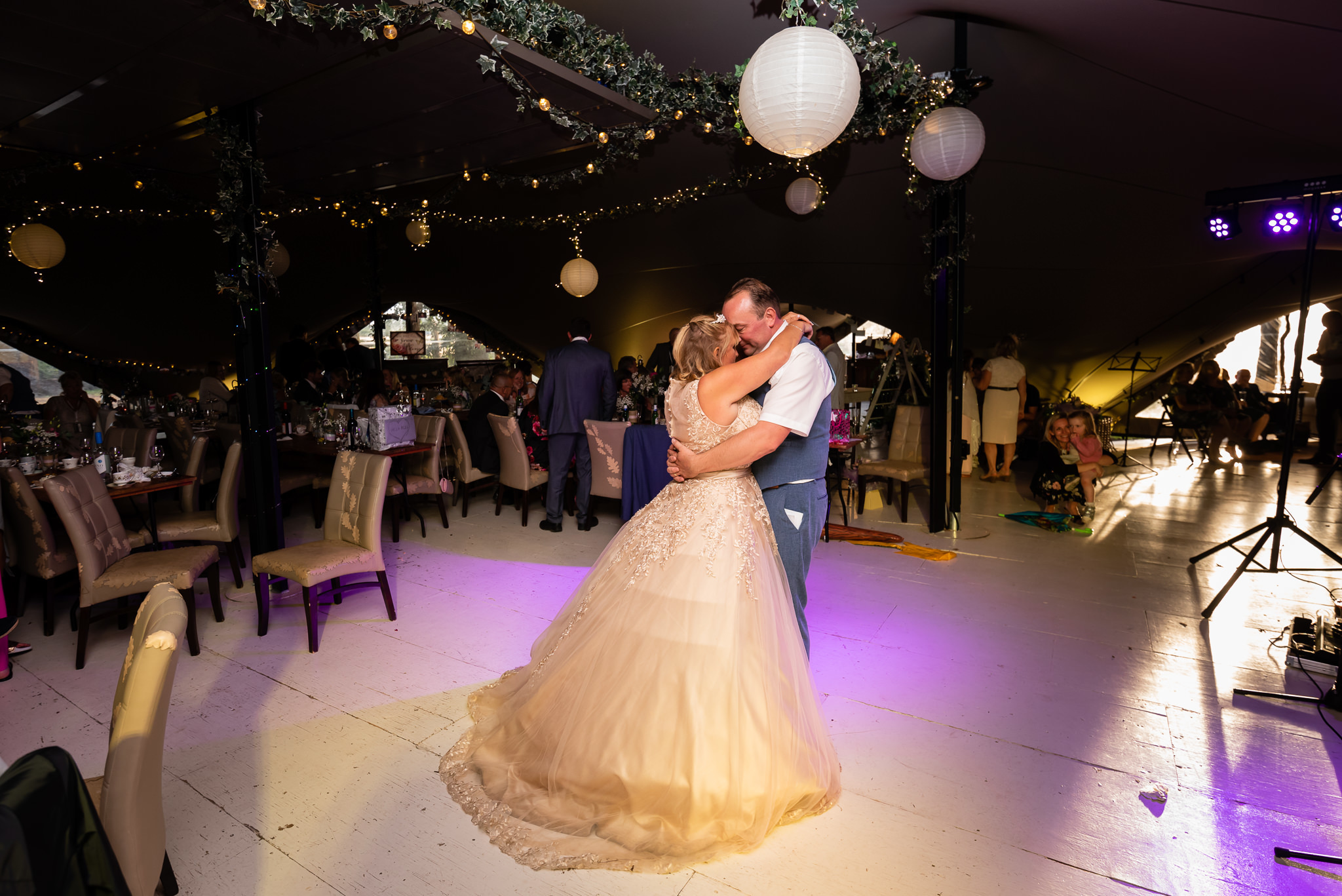 The bride and grooms first dance at The Oak Grove