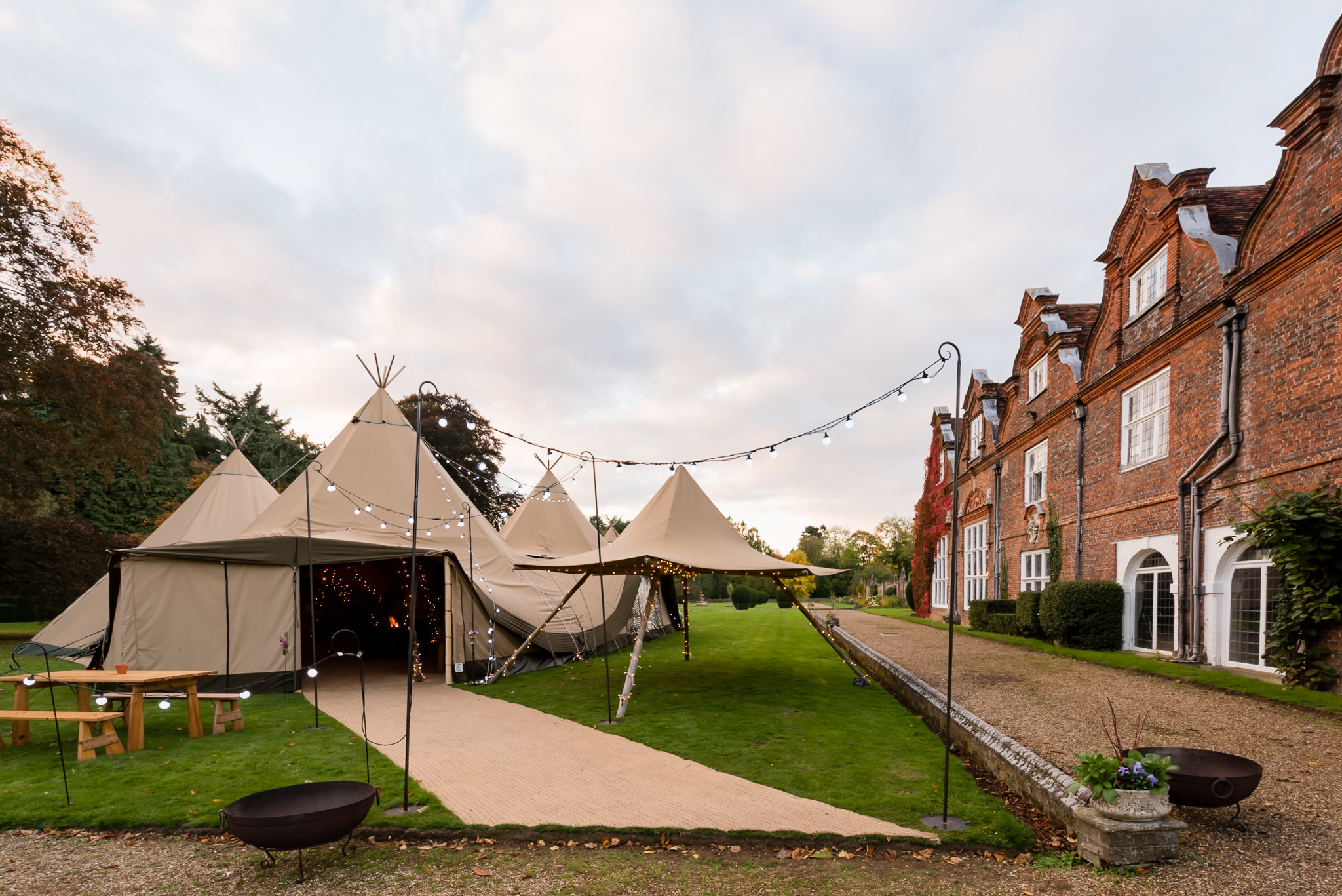 Tipis4Hire open day at Rothamsted Manor
