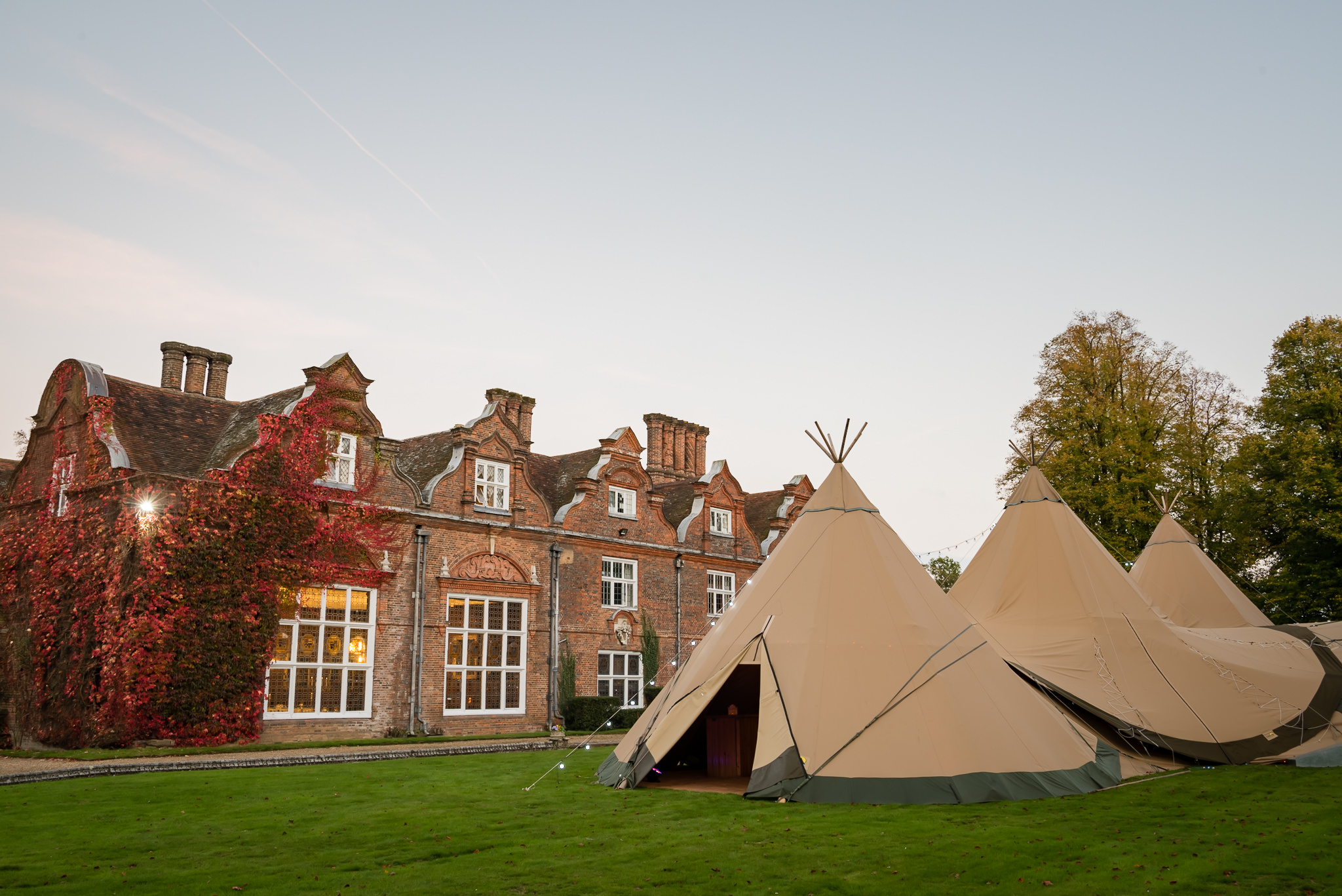 Wedding Tipi at Rothamsted Manor