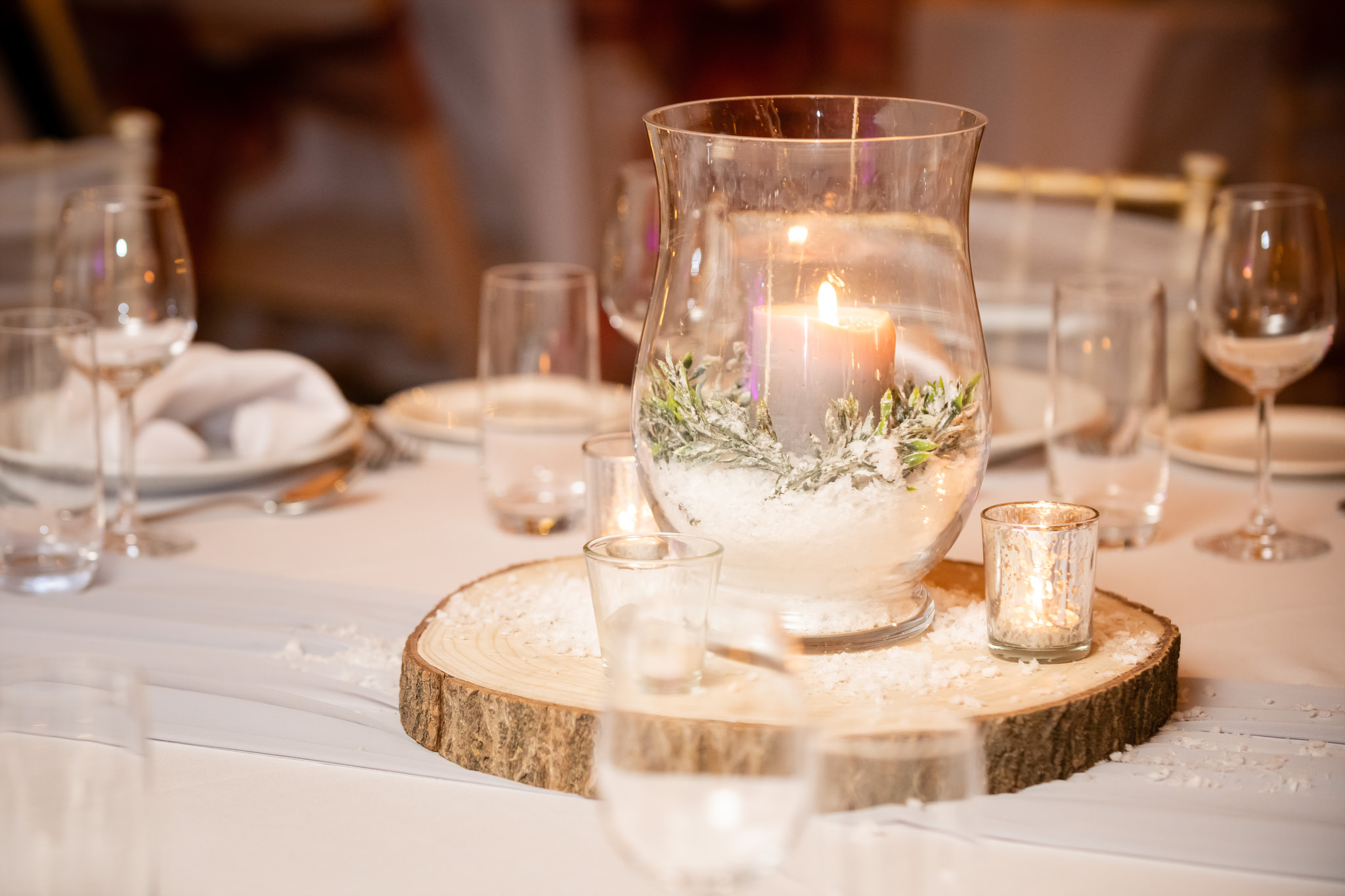 Table decor for a tipi wedding
