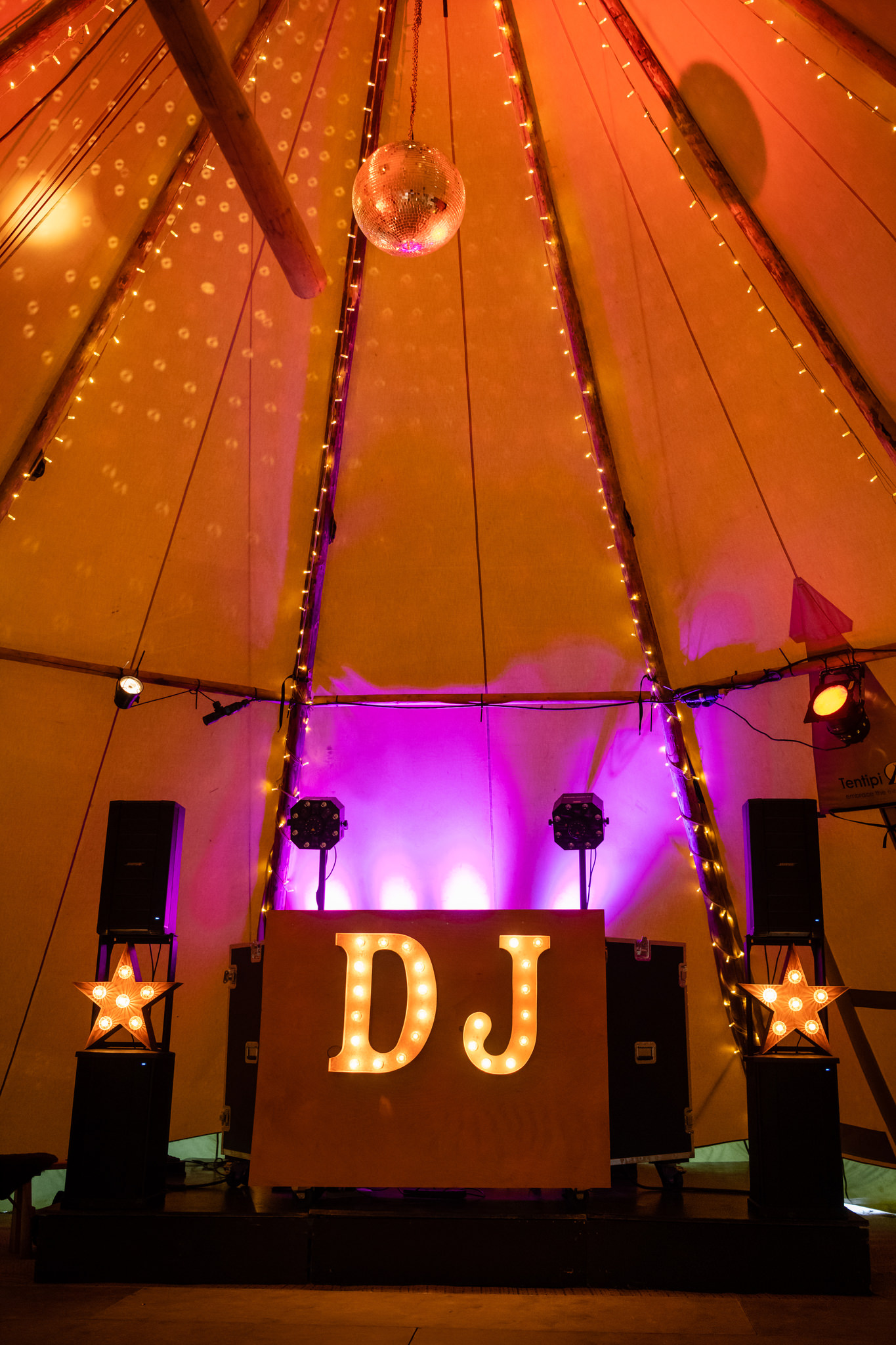 DJ Booth in a Tipi