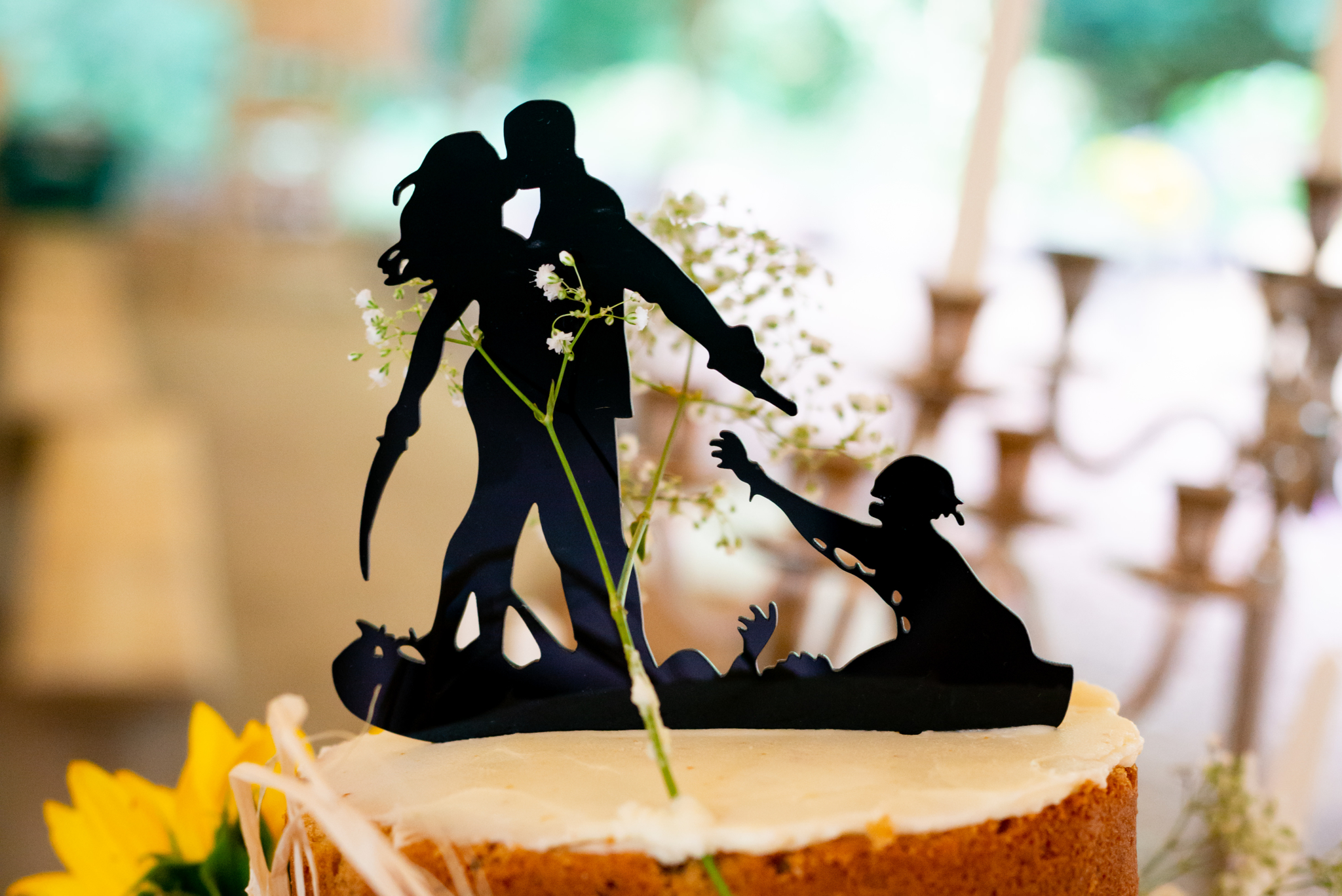 A zombie wedding cake topper