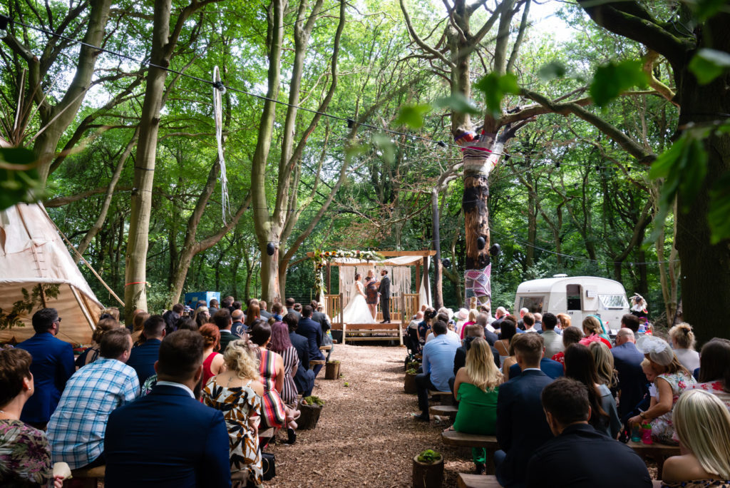 Woodland wedding at Lila's wood in Tring