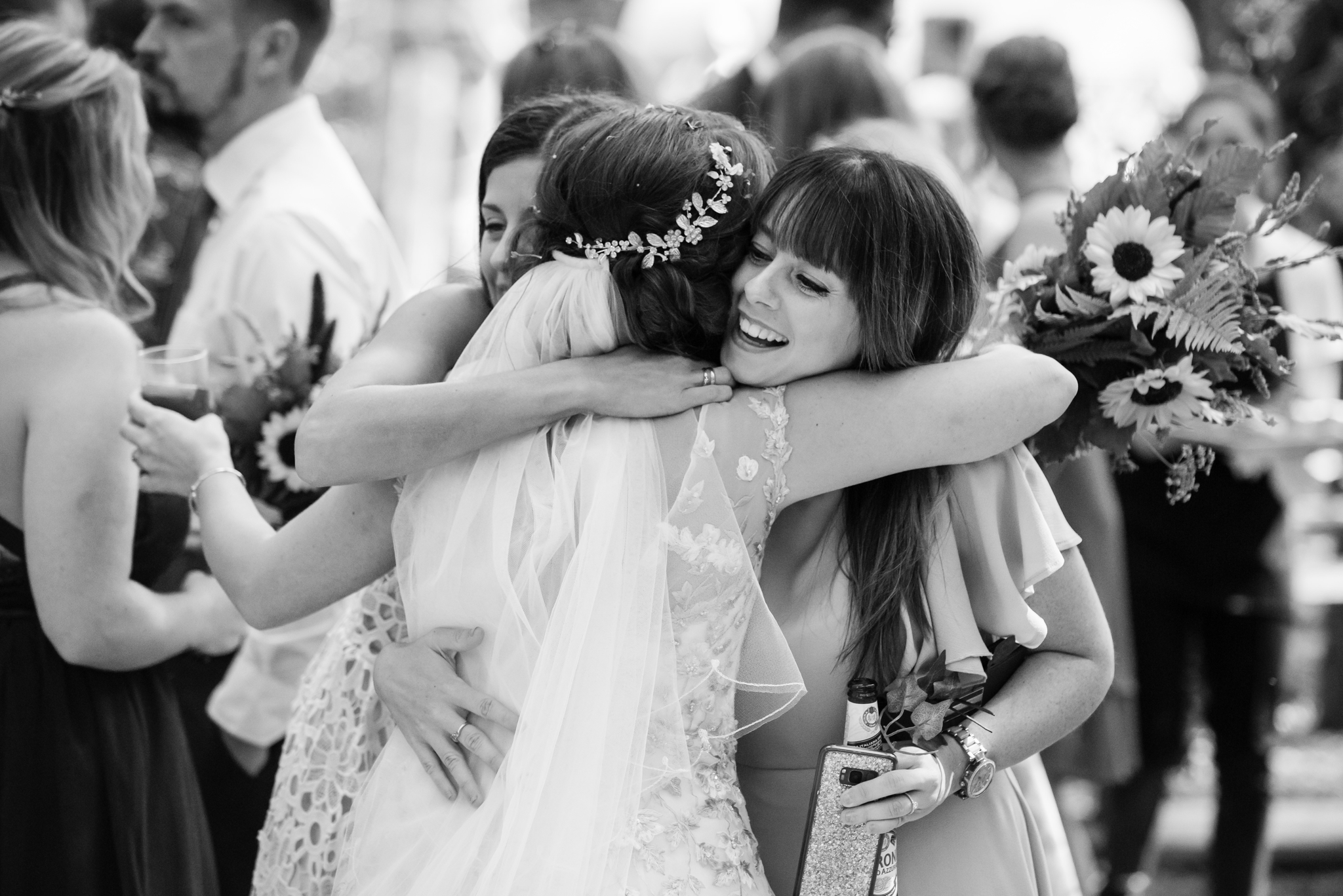 Guests congratulate the Bride