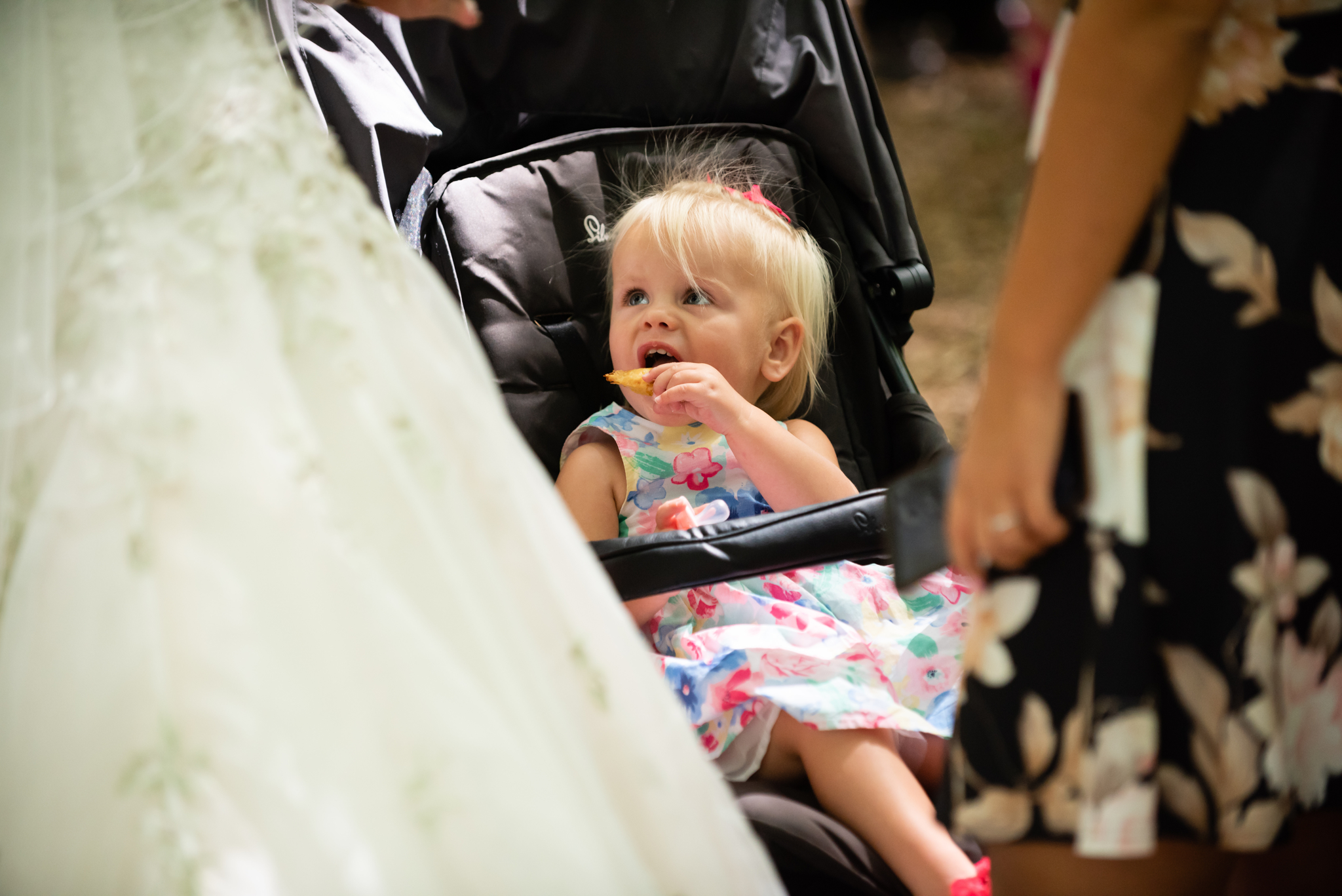 A little girl at the wedding