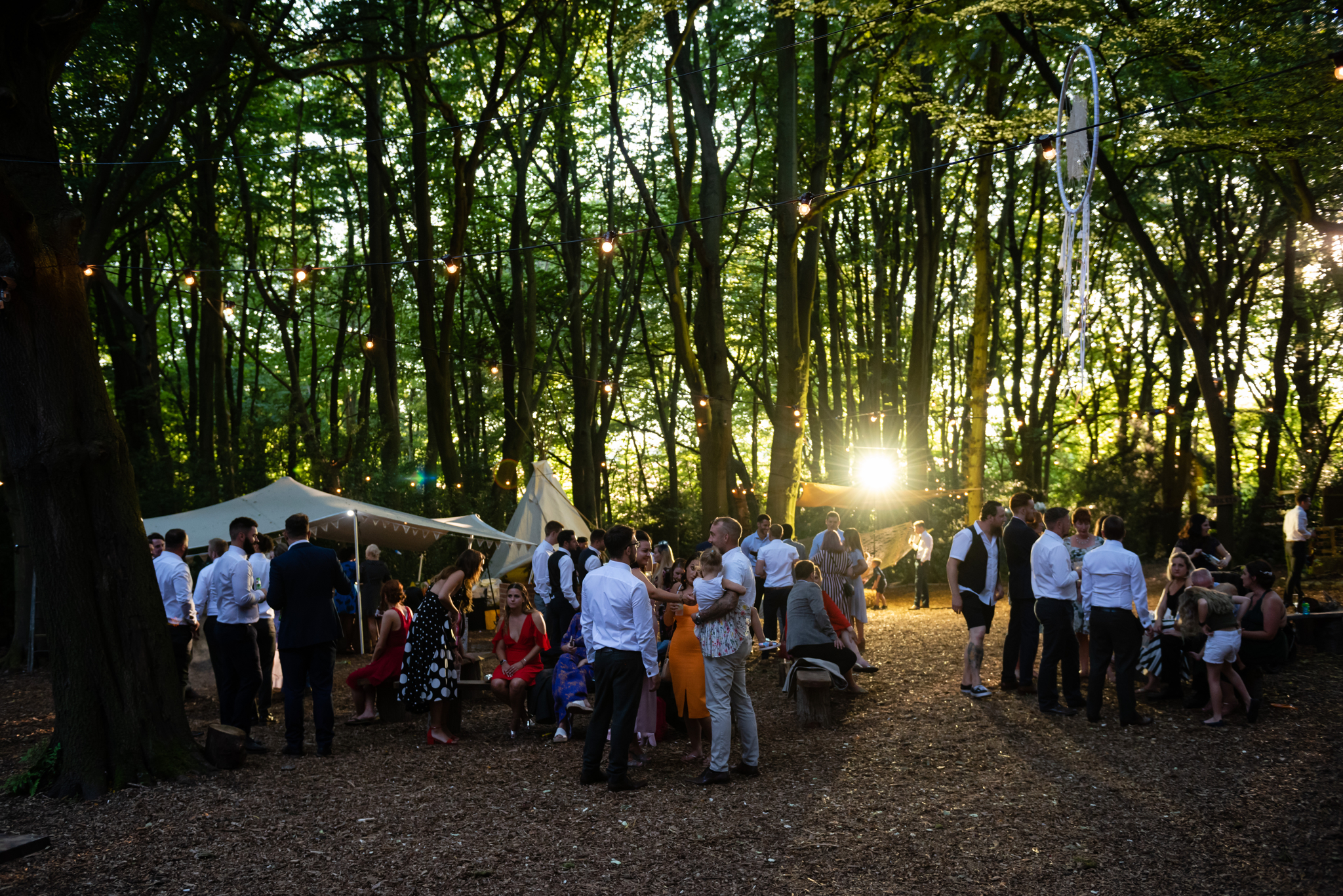 The evening at Woodland Weddings in Lila's Wood.