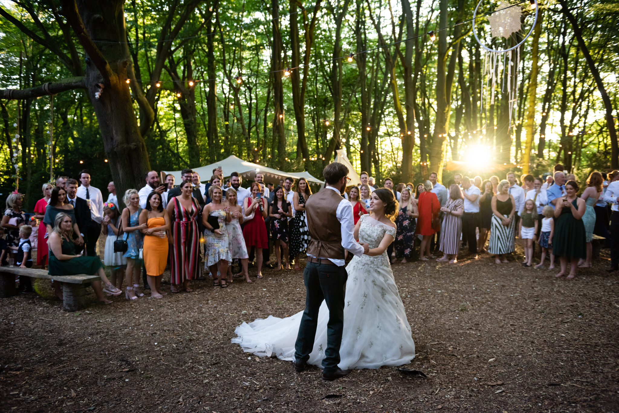 The first dance at Woodland Weddings
