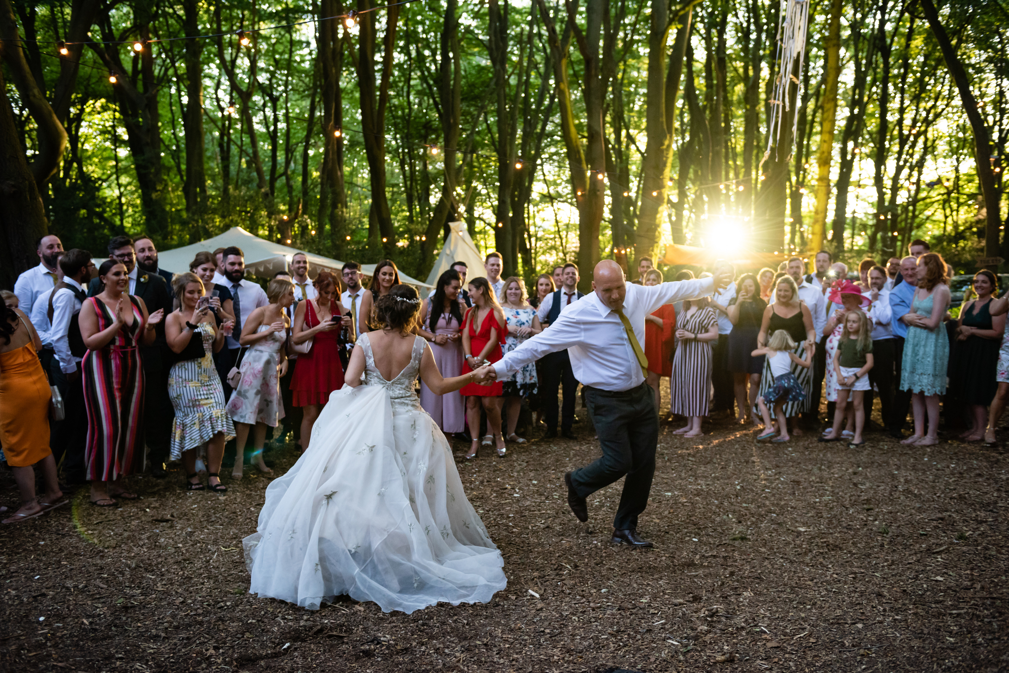 The father and daughter dance at Woodland Weddings