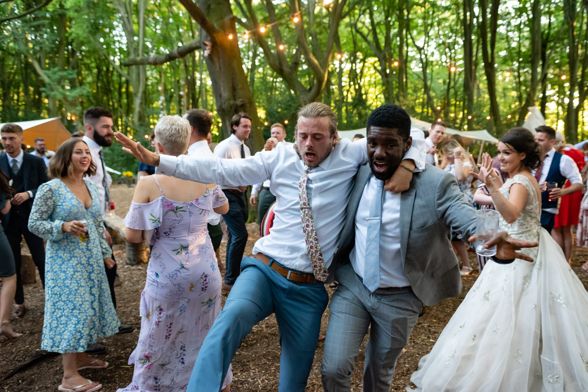 Guests dancing at Woodland Weddings