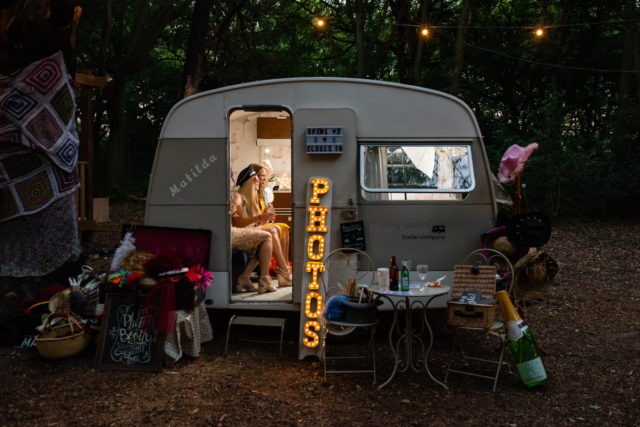 A caravan photo booth