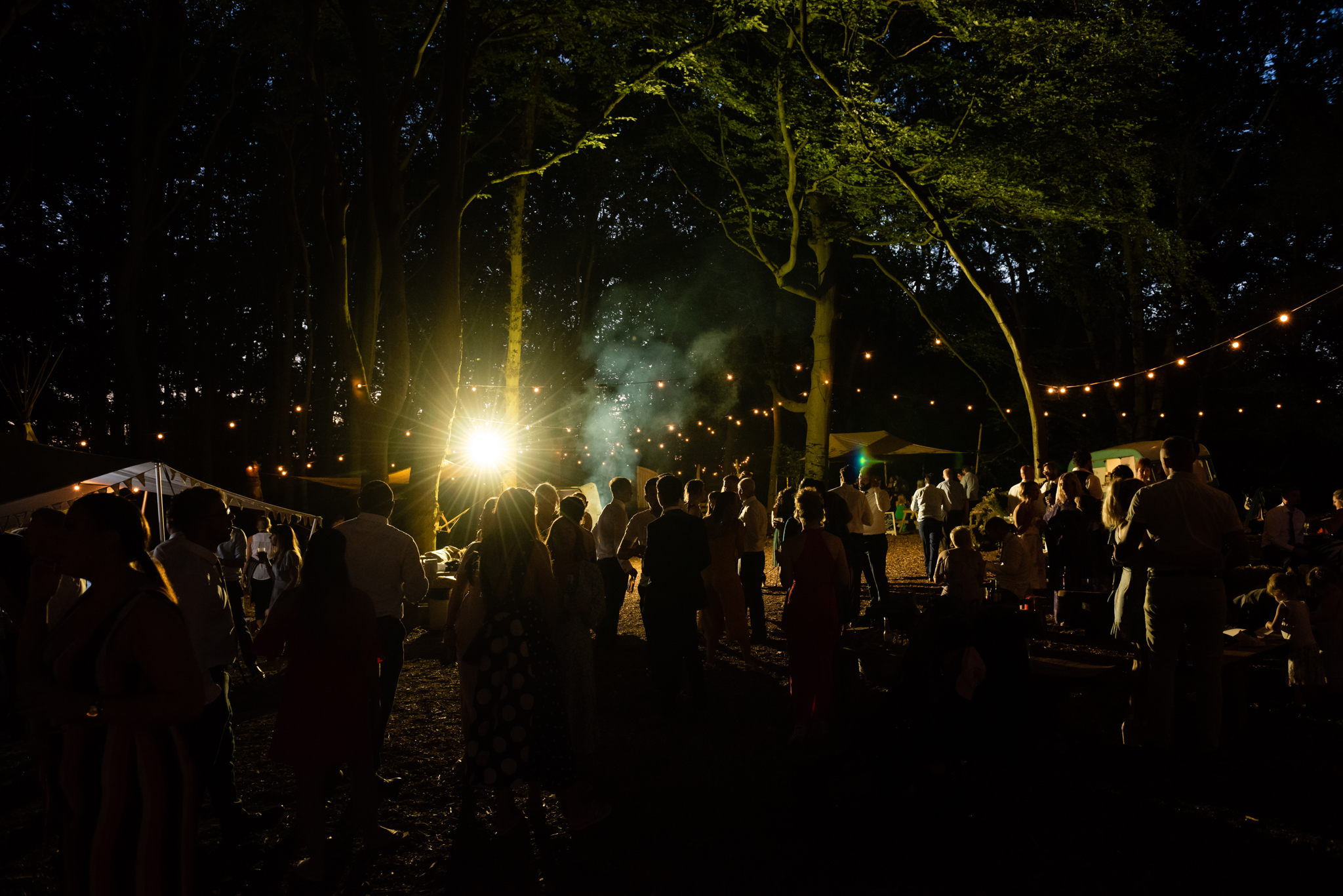 The party continues into the night at Lila's Wood